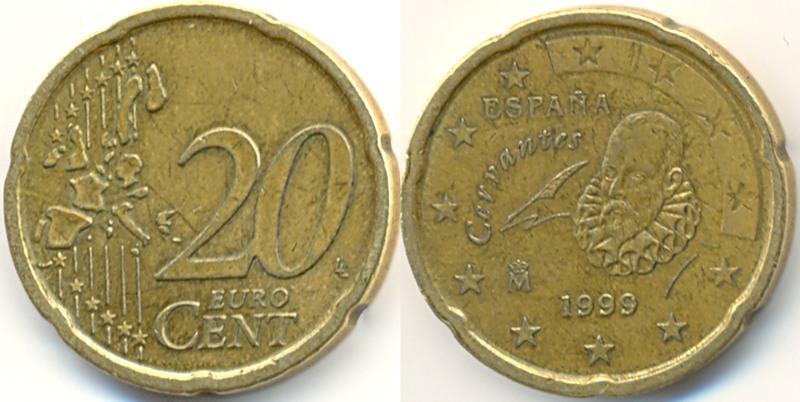 Стоимость монеты 20 евро цент лупа для нумизматов какую выбрать